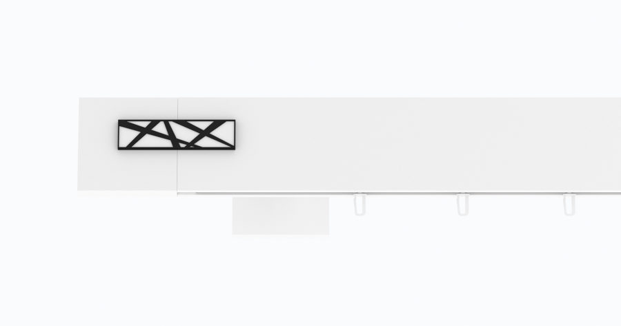 Karnisz TOP-LINE GALAXY biały połysk