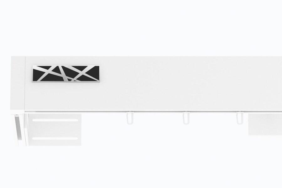 Karnisz TOP-LINE zamknięty GALAXY biały połysk