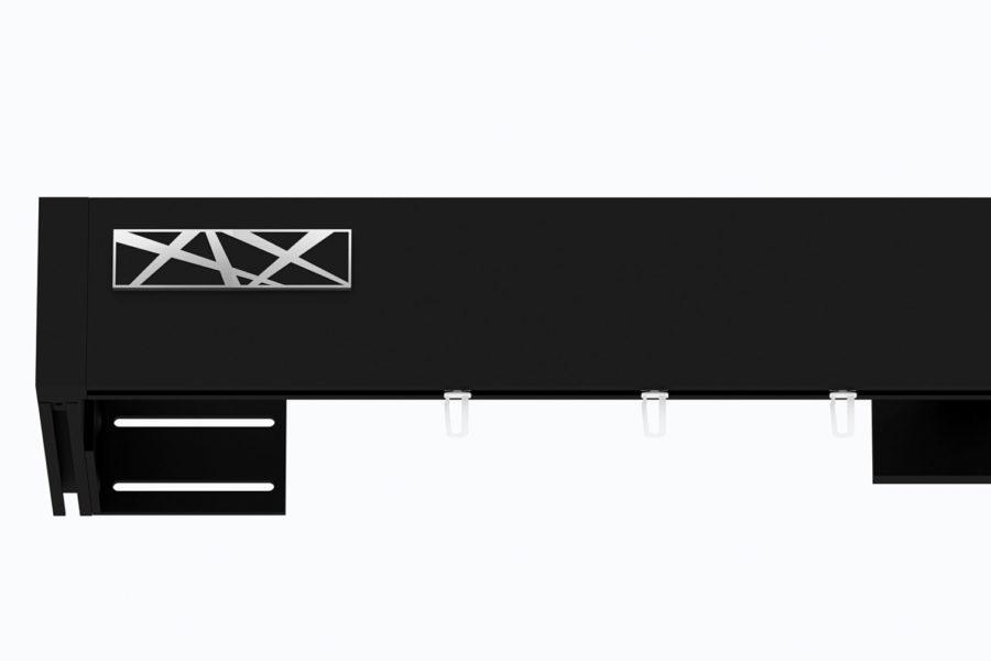 Karnisz TOP-LINE zamknięty GALAXY czarny mat
